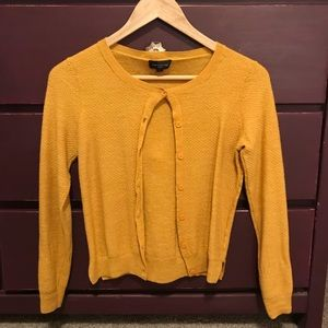 The Limited yellow button up cardigan